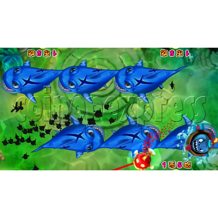 Let's Eat Fish Redemption Arcade Game (4 players) 37748