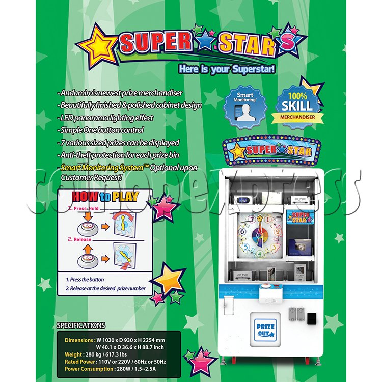 Super Star Skill Test Prize Game machine 37828