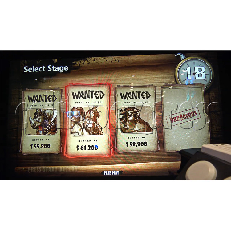 Bounty Ranger Arcade Machine Select Stage