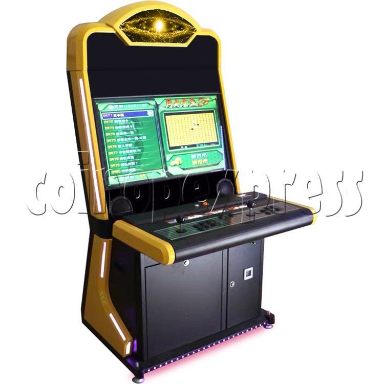 Warlord 32 inch Blue Arcade Cabinet-yellow
