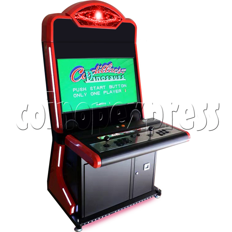 Warlord 32 inch Blue Arcade Cabinet-red