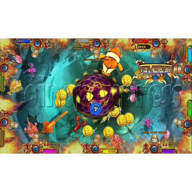 Ocean king 3 plus Dragon Lady of Treasures Fish Hunter Game board kit China release version - screen display 3