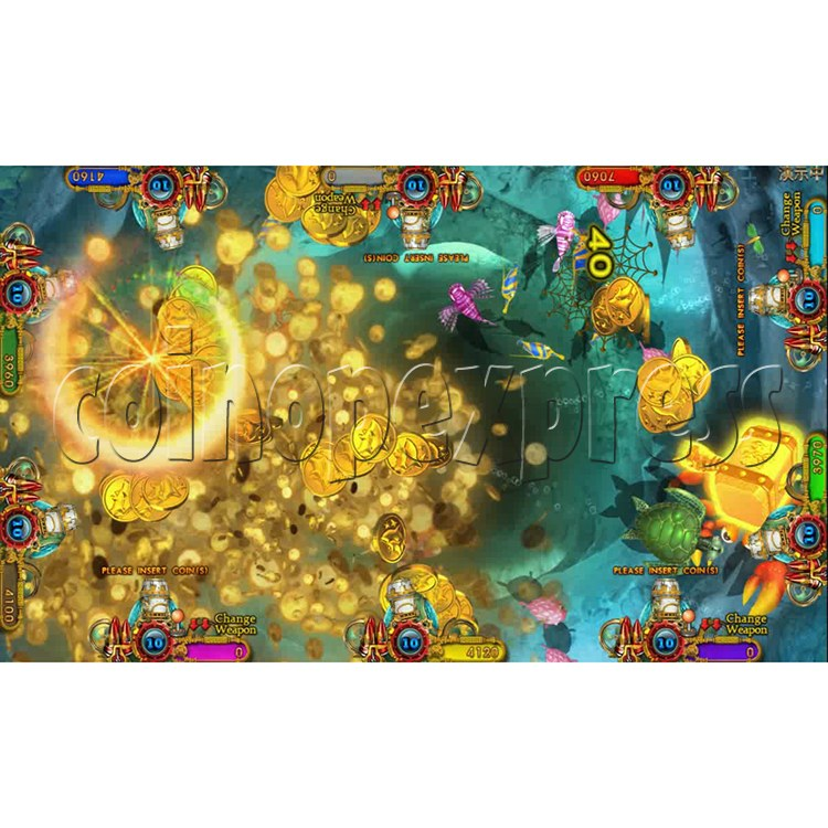 Ocean king 3 plus Dragon Lady of Treasures Fish Hunter Game board kit China release version - screen display 5