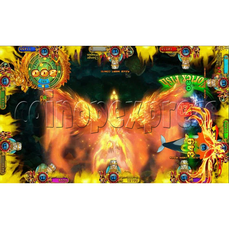 Ocean king 3 plus Fire Phoenix Fish Game Board Kit China Release Version - screen display 4