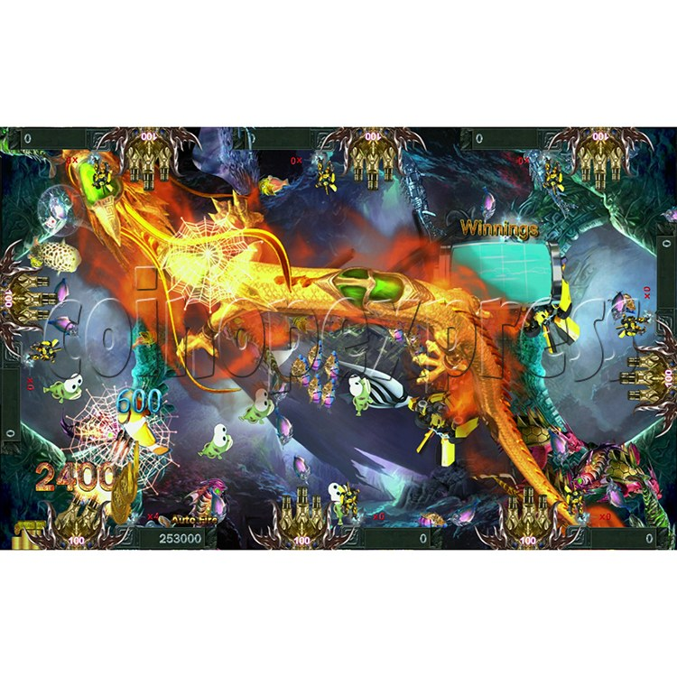 Fire Dragon Fish Game Full Game Board Kit - screen display 2