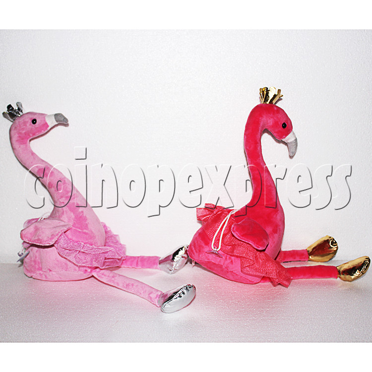 Flamingo Plush Toy 8 inch - side view