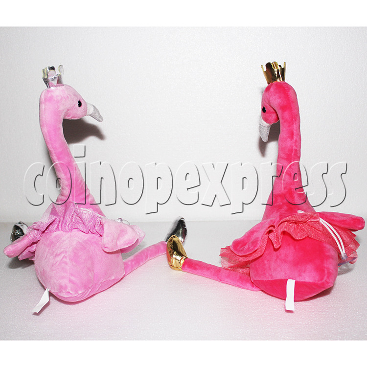 Flamingo Plush Toy 8 inch - back view