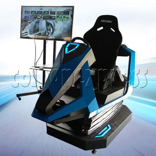 3D Racing Car Game Virtual Reality Gaming Simulator machine 1 player-Angle view