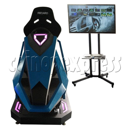3D Racing Car Game Virtual Reality Gaming Simulator machine 1 player-Front View