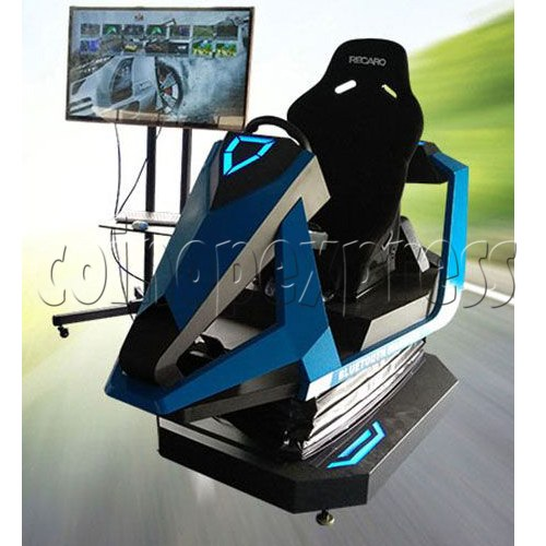 3D Racing Car Game Virtual Reality Gaming Simulator machine 1 player-Side View