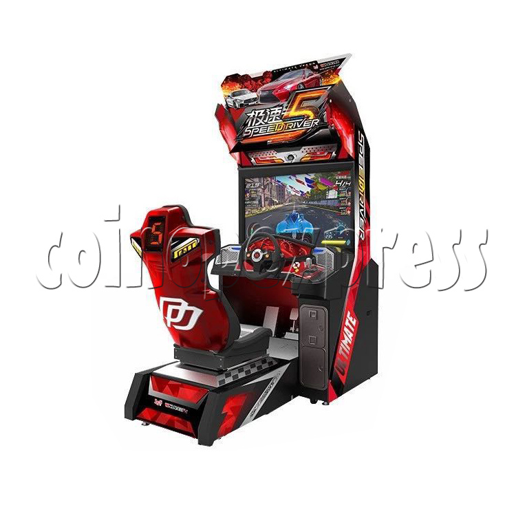 SSpeed Driver 5 Video Arcade Racing Game Machine - angle view