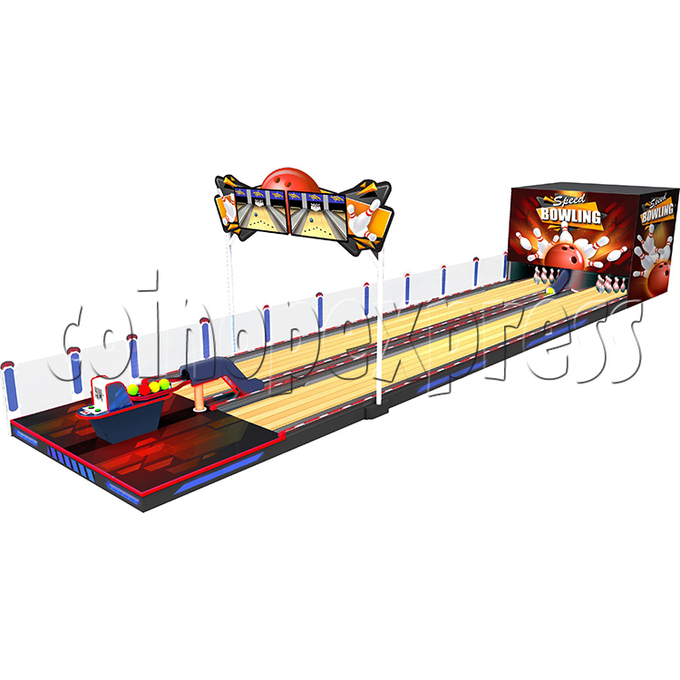 Speed Bowling Arcade Machine 13M - angle view