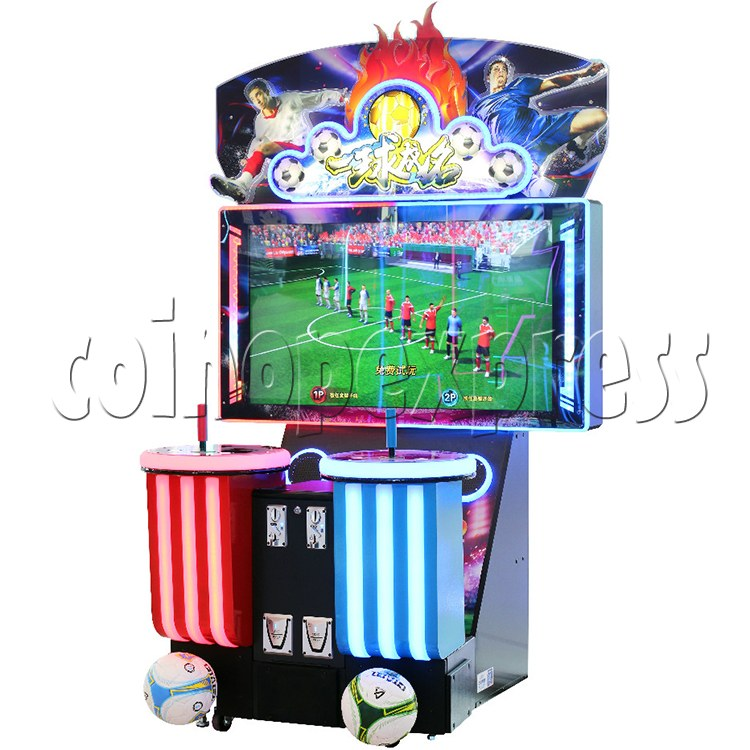 Fantasy Soccer Sport Arcade Machine 2 Players - angle view
