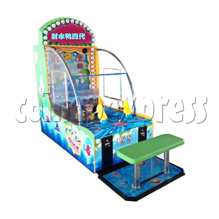 Chase Duck IV Water Shooter Ticket Redemption Machine with Chair - left view