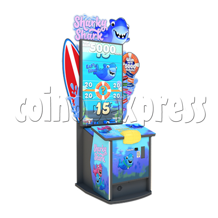 Sharky shark 55 inch Ticket Redemption Arcade Game machine - left view