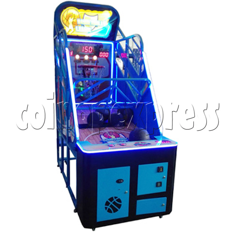Basketball League Ticket Redemption Arcade Machine - left view 2