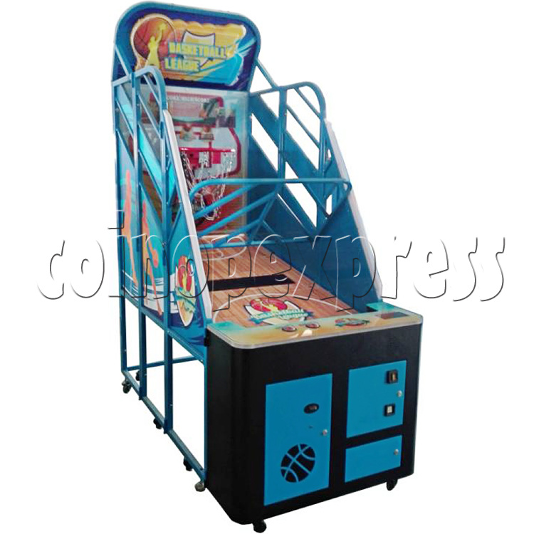 Basketball League Ticket Redemption Arcade Machine - left view 1