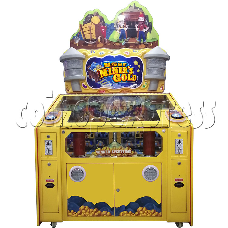 Miner's Gold Ticket Redemption Arcade Machine - front view
