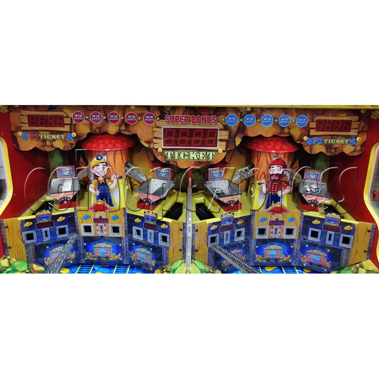 Miner's Gold Ticket Redemption Arcade Machine - playfield