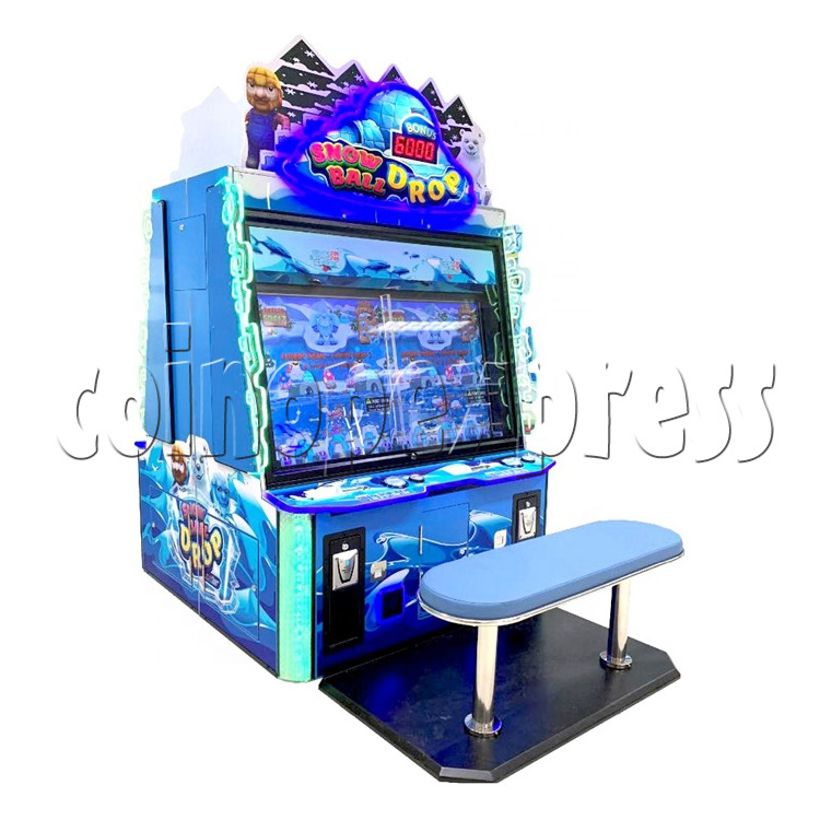 Snow Ball Drop Ticket Redemption Game Machine 4 Players - angle view