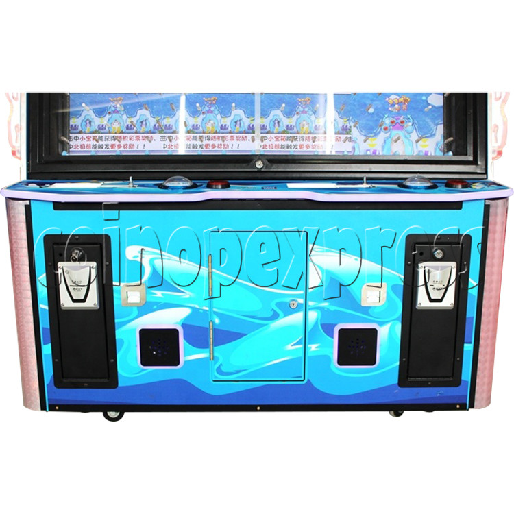 Snow Ball Drop Ticket Redemption Game Machine 4 Players - front door
