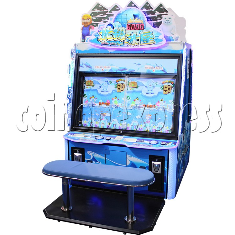 Snow Ball Drop Ticket Redemption Game Machine 4 Players - right view