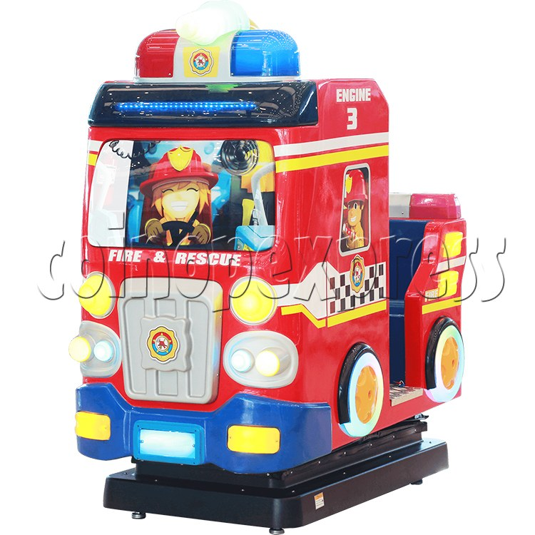 Fire Rescue Car Kiddie Rides Video Game Machine - right view