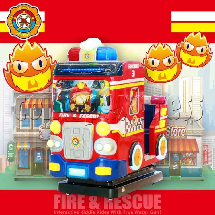 Fire Rescue Car Kiddie Rides Video Game Machine - catalogue