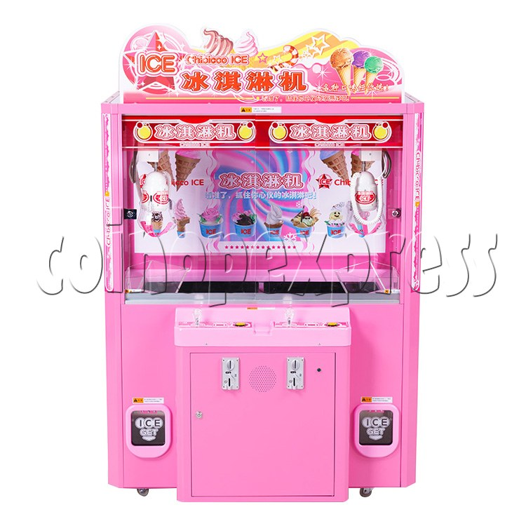 Ice Cream Claw Vedning Machine - 2 Players pink color