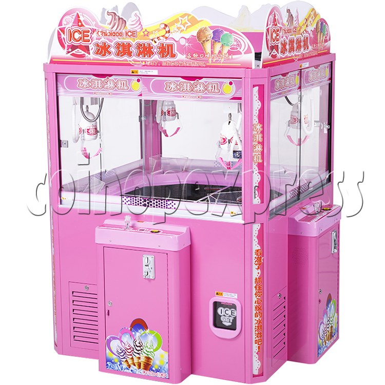 Ice Cream Claw Vedning Machine - 4 Players pink color