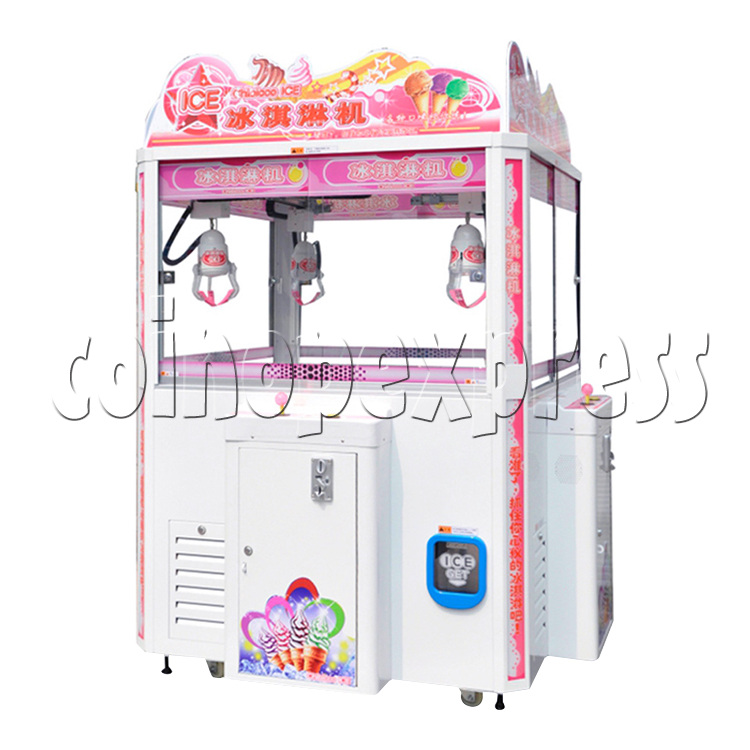 Ice Cream Claw Vedning Machine - 4 Players white color
