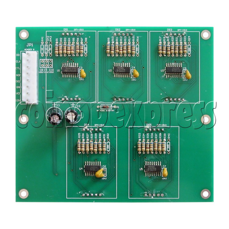 Segment Display Board for Forest Hockey Machine - back view