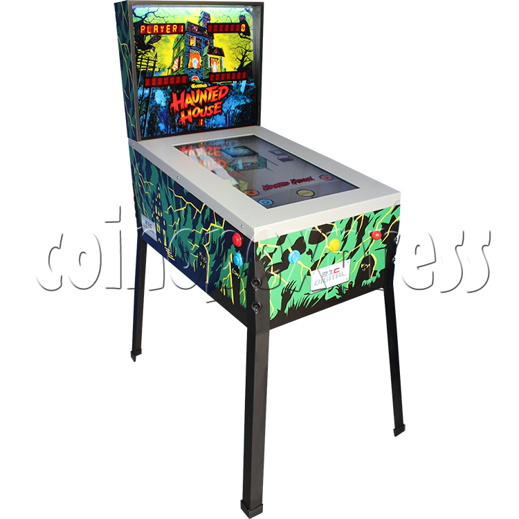 Haunted House Digital Pinball Machine with 12 Gottlieb Games (Toyshock) - left view