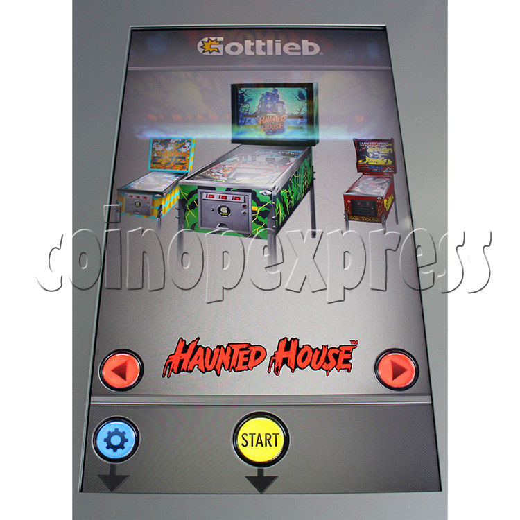 Haunted House Digital Pinball Machine with 12 Gottlieb Games (Toyshock) - screen display 1