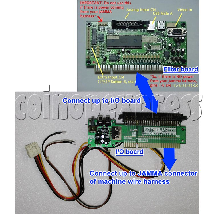 3.3V Power Supply Kit for NAOMI Game System Board - wiring diagram