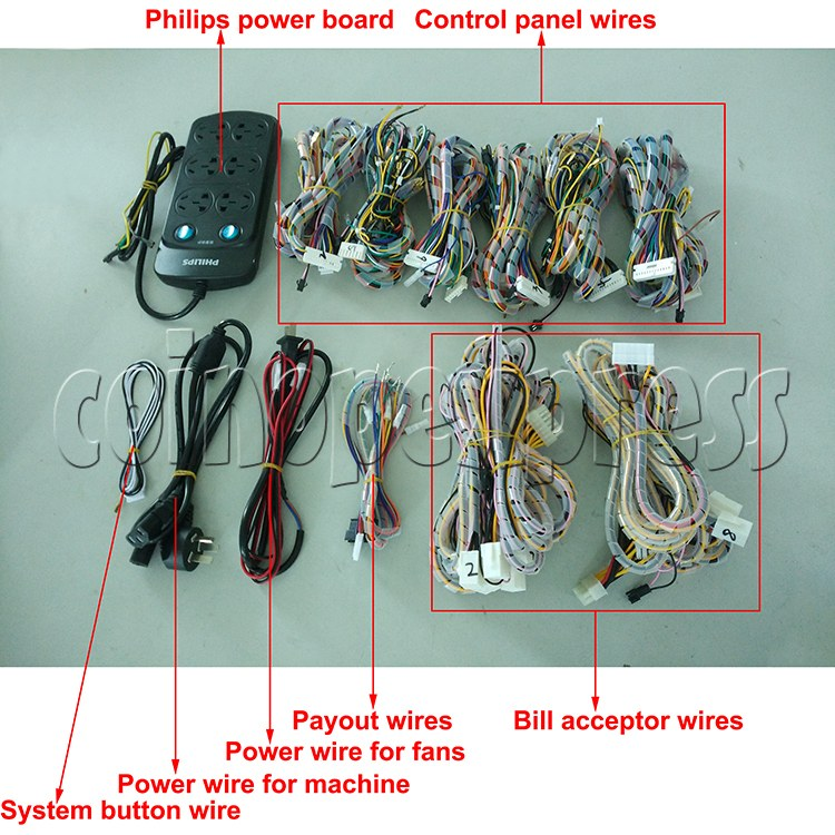 6 Player Fish Machine Wiring Harness for IGS and China Game Kits - full set