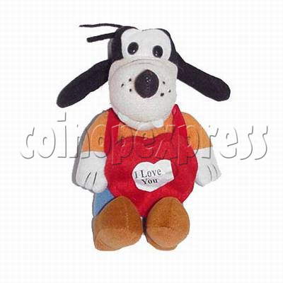 Dog with Message Heart 4366