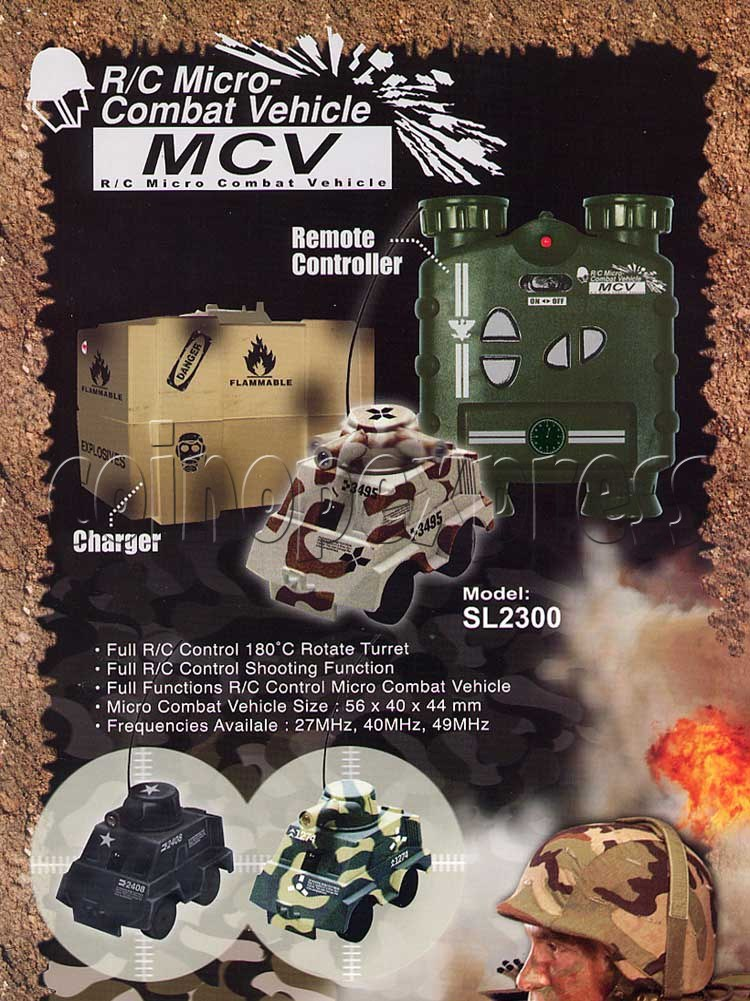 Mini Remote Control Combat Tanks 7844