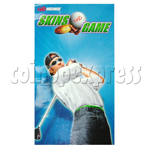 Skins Arcade Game Midway Skins Golf Kit - Sticker-1