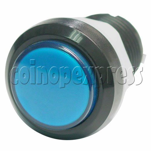 33mm Round Illuminated Push Button - Black Body with Color Top 8737