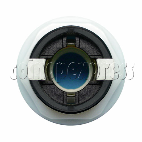 33mm Round Illuminated Push Button - Black Body with Color Top 8739