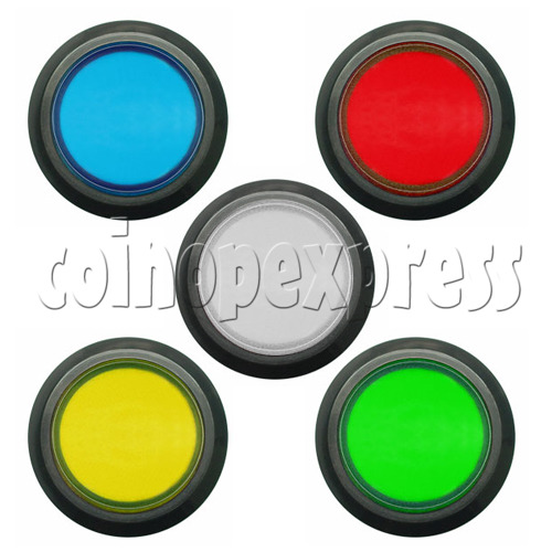 33mm Round Illuminated Push Button - Black Body with Color Top 8743