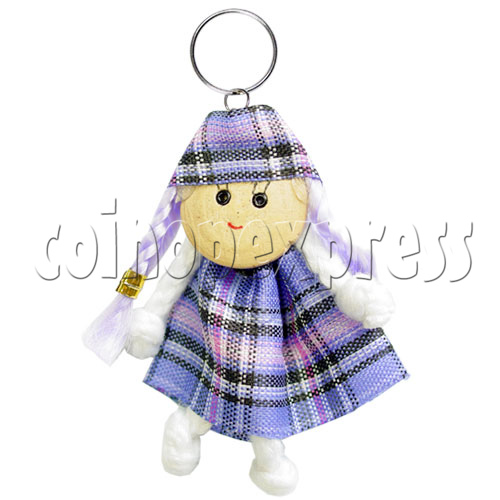 Fabric Girl Key Rings 12622