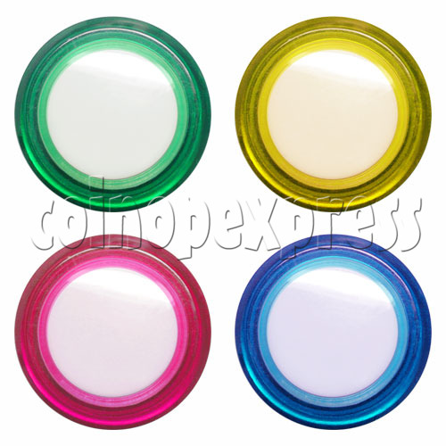 33mm Round Illuminated Push Button - Color Body with White Top 12002
