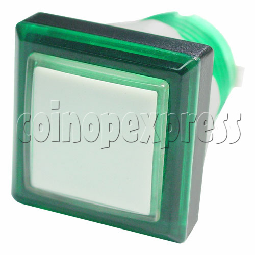 33mm Square Illuminated Push Button - Color Body with White Top 12003