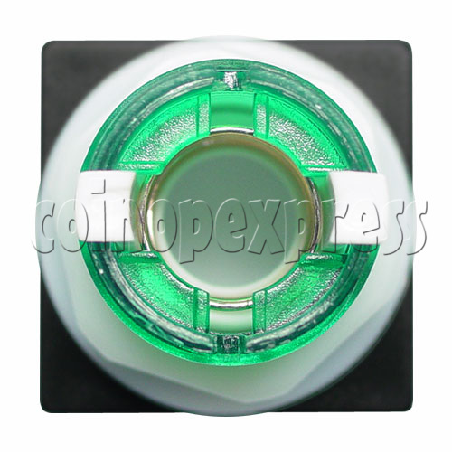 33mm Square Illuminated Push Button - Color Body with White Top 12005
