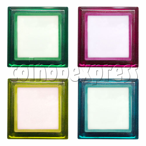 33mm Square Illuminated Push Button - Color Body with White Top 12012