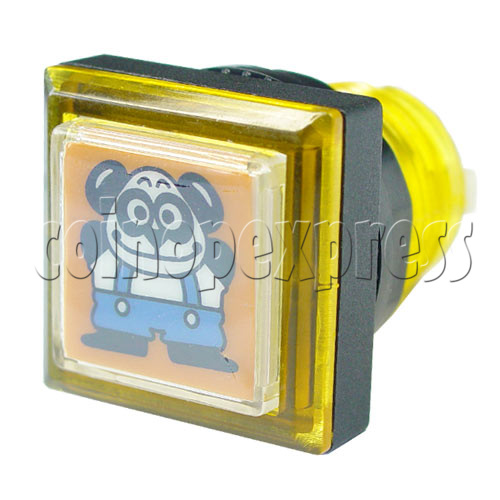 33mm Square Push Button with Cartoon 13102