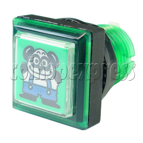 33mm Square Push Button with Cartoon 13103