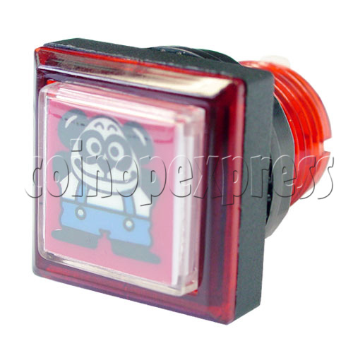 33mm Square Push Button with Cartoon 13104